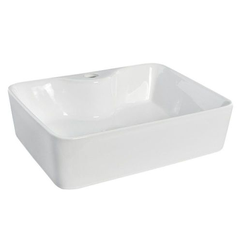 Sway Rectangular 480mm Vessel Counter Top Basin - 1 Tap Hole